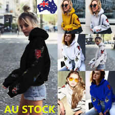 Plus Size Women Hoodies Sweater Shirt Pullover Hooded Jumpers Tops Skateboard