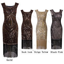 Vintage Fringed 1920s Costume Flapper Gatsby Party Prom Evening Cocktail Dress