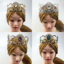 Baroque Crystal Rhinestone Gold Crown Tiara Wedding Pageant Hair Accessory