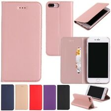 Magnetic Flip Solid Color Leather Wallet Case Silicone Stand Cover For iPhone  C