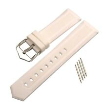 White Quick Release Waterproof Silicone Rubber Watch Strap Band Bracelet 16-22mm