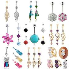 Belly Bars Drop Body Piercing Belly Button Ring Dangly Reverse Navel Bar Ardent