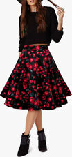 New Stunning Floral Vintage Rockabilly Full Circle 1950's Flared Swing Skirt