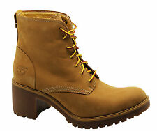 Timberland Earthkeepers EK Averly Heeled Boots Womens Shoes Wheat 8562B D75