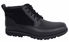 Timberland Brewstah Lace Up Mens Black Leather Suede Chukka Boots A121M D11