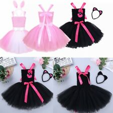 Baby Kids Girls Halloween Cosplay Costume Party Tutu Dress Headband Outfit Set
