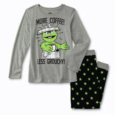 Oscar The Grouch Pajamas Womens size Medium-XL Cotton Shirt Pants Sesame Street
