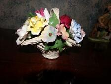 ARDALT ITALY SIGNED COPADOMONTE FLOWERS IN A WEAVE BASKET NUMBERED