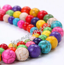 Lots 20-100Pcs Turquoise Carved Round Loose Spacer Charm Bead Jewelry DIY 4-10mm