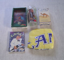 Joe Camel Lot Ash Tray ,The Game ,Jacket, Post Cards , Glass