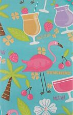 ASST Sizes Tropical Island Party Vinyl Umbrella Tablecloth With Hole and Zipper