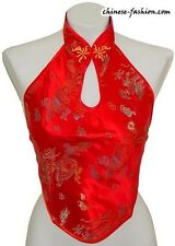 Sexy Brocade Silk Chinese Lingerie Halter-top Dudou Club Wear