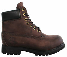 Timberland 6 Inch Burnished Leather Boots Mens Boys Brown 37587 D93