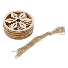 10 Pcs 8 cm Round Unfinished Wooden Board for Christmas Festival Decoration