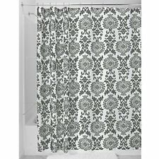 Damask Fabric Shower Curtain, Shower Screen With Bold Pattern Design, Polyester,