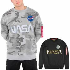 Alpha Industries Men's Sweater Nasa Reflective S M L XL XXL 3XL New