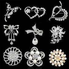 Women Wedding Bridal Rinestone Flower Brooch Pin Charm Jewelry Party Gift New