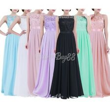 Ladies Long Formal Party Prom Ball Gown Sleeveless Evening Bridesmaid Dresses