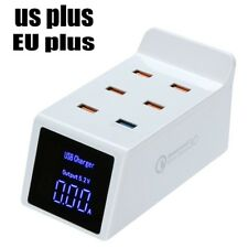 Quick Charger 3.0 6-Port Desktop Charging Station With LCD Display For iPhone