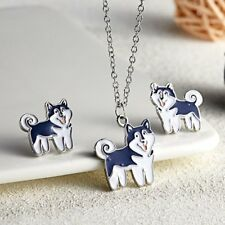 Fashion Women Jewelry Set Dog Animal Charm Pendant Necklace Earrings Gifts New