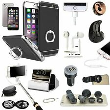 Black Ring Holder Case Cover Earphone Monopod Lens Accessory For iPhone X XR XS