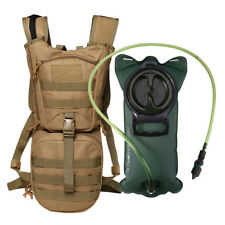 Outdoor Camping Hiking Tactical Backpack Hydration Pack + 3L Water Bladder Arden