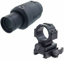 Aimpoint 3X-C Red Dot Magnifier, Black, 200273 w/ Leapers UTG 30mm : 200273-KIT1