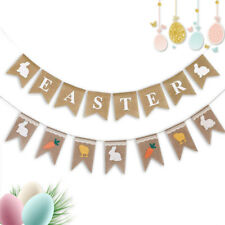 Rustic Easter Decorations Burlap Bunting Garland Party Supplies Photo Props