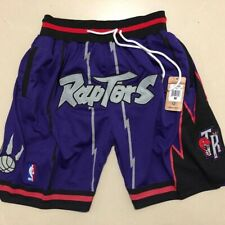 Toronto Raptors N-B-A Basketball Shorts Vintage Pants Men's NWT Stitched