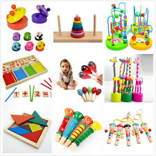 Wooden Toy Gift Baby Kids Intellectual Developmental Educational Early Learning-