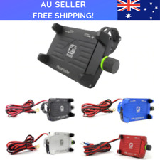 Motorbike Phone Holder 360 Rotatable Handlebar Phone Mount USB Charger