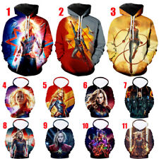 3D Print Captain Marvel Women Men Casual Hoodies Sweatshirt Pullover Many Styles