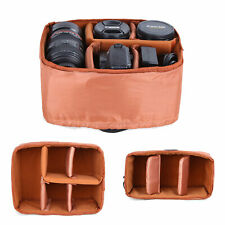 Waterproof DSLR SLR Camera Bag Insert Partition Padded Lens Pouch Case Hand Bag
