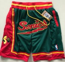 Seattle Supersonics Vintage Basketball Game Shorts NBA Men's NWT Stitched Pants