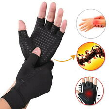 2x Copper Arthritis Compression Gloves Hand Support Arthritic Joint Pain Relief