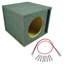 Car Audio Single 8 Slot Ported Subwoofer Labyrinth Stereo Bass Speaker Sub Box