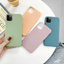 For iPhone 11 Pro XS MAX XR X 7 8 6 Plus Candy Solid Color Silicone Phone Cases