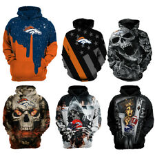 Denver Broncos Hoodie Football Hooded Sweatshirt Sports Jacket Gifts for Fans