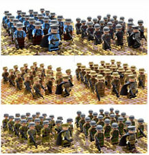 21PCs/set WW2 Army Infantry Mini Soldier Officer Weapon Military Building Blocks