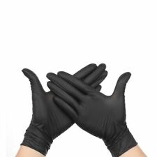 Black Disposable Gloves Latex Medical/Dish-Washing/Kitchen/Work/ 50/100pcs