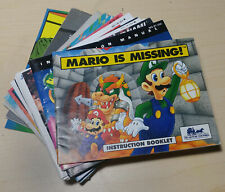 NINTENDO NES Manual Lot - Choose game instruction booklet - FREE SHIP!