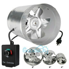 """4'' /6"""" /8""""Inline Ducting Fan Booster Air Cooling Filter Vent Exhaust Blower Fan"""