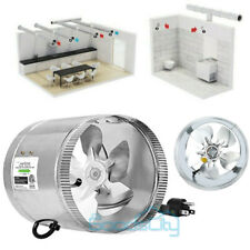 """4"""" 6"""" Inch Inline Duct Fan Booster Blower Exhaust Blower Air Cooling Fliter Vent"""