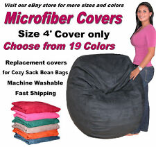 Bean Bag Chair Cover Factory Direct Cozy Sack Store Fits 4' Chairs Suede