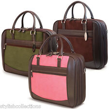 MOBILE EDGE Scanfast Element Checkpoint Friendly Laptop 16 Briefcase Poly Suede
