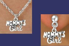 MOMMY'S GIRL Mother Mom Birthday Neck Children Kids Love Daughter Charm Jewelry