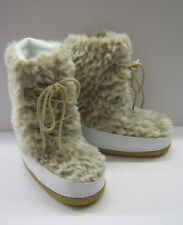 GIRLS H4045 WHT PRINTED FUR SNOW/MOON BOOTS BRAND NEW!!