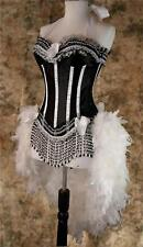 D&D Moulin Carnival Circus Feather/Showgirl/Dance Burlesque Costume S M L