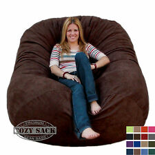 Large Bean Bag Chairs Factory Direct Cozy Sack Store 6' Foam Filled Comfort