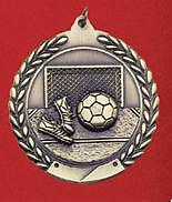 "2-3/4"" MS Soccer Medals w/Ribbon Any Qty Ships Flat Rate $5.49 in USA"